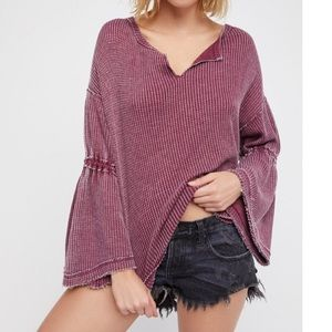 Free People Tops - Free People Dahlia Thermal Top M NWT